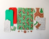 Christmas Ephemera Scrapbook Kit with 25 Vintage Pieces - Wrapping Paper, Stickers, Tags - Planner, Journaling, Scrapbooking, Paper Craft