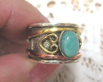 Amazonite Sterling Silver Ring Size 6