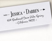 Self-Inking Address Stamp, Return Address Stamp, Wood Mounted Address Stamp, Envelope Stamp, Wedding Personalized Stamp, Custom Stamp (S7)