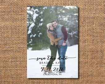 Save the Date, Photo Save the Date Card, Save the Date Printable, Save the Date Rustic, Printable Save the Date, Wedding Announcement