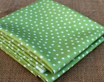 Fat Quarters ~ Green Polka Dot ~ Penny Rose Fabrics ~ Riley Blake ~ Paper Dolls Bakery ~ 100% Cotton