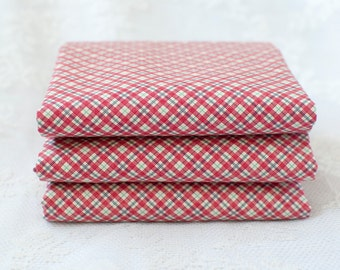 Check Fabric Fat Quarter | Red Check Gingham Cotton Fabric |