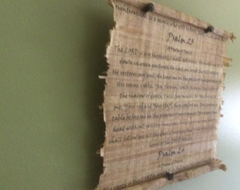 Psalm 23 Scripture Plaque (No cedar wood on this one)