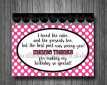 Oh Twodles Toodles Minnie Mouse Pink Thanks You Cards Girls Birthday Party Invitation Addon - Digital Printable File