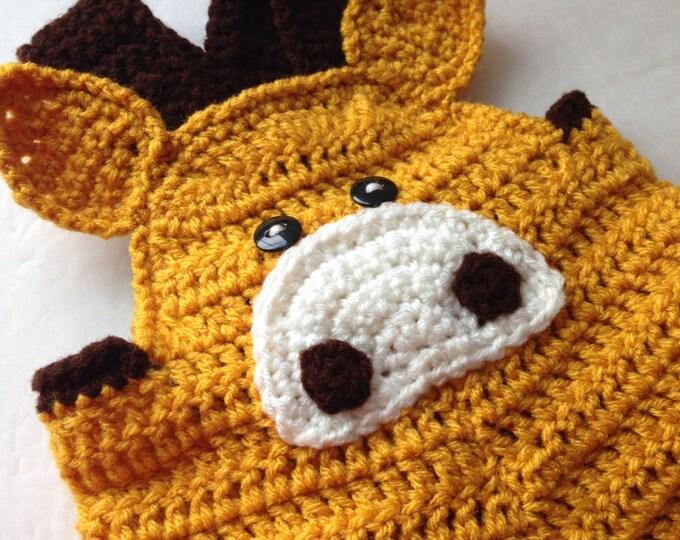 Baby Giraffe Romper - Baby Overalls - Animal Bodysuit - Crochet Handmade - Made to Order