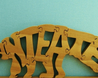 Ant Eater Toy Wood Puzzle Cut On Scroll Saw