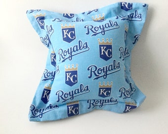 KC Royals Pillow, KC Royals Fabric, Man Cave Pillow, Kansas City Royals, Sports Pillow, Guy Gift, Man Gift, Blue Pillow