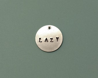 Custom Hand Stamped Pet ID Tag: Personalized, Lazy