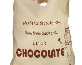 Chocolate Lovers Muslin Tote Bag