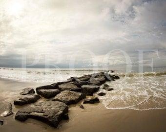 Long Beach NY Jetty Beach Photography Print