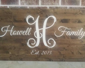 Monogram Personalized Wood Wall Decor / Wood Signs / Wood Wall Art / Wooden