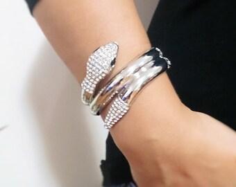 Geometric bracelet, bdsm bracelet, cuff bracelet, titanium bracelet, nail bracelet, snake bracelet, woman gift, girls gift, birthday gift