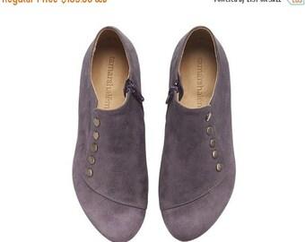 SUMMER SALE Purple handmade  leather  flat shoes / Grace best seller by Tamar Shalem