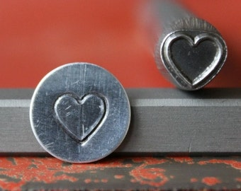 Large Heart Metal Design Stamp - Metal Stamp - Metal Stamping and Jewelry Tool SG375-49