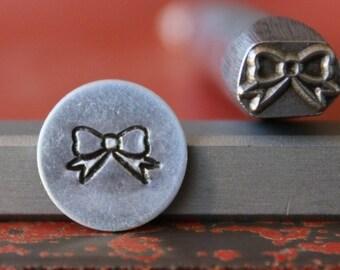 Hair Bow Metal Design Stamp - Metal Stamp - Metal Stamping and Jewelry Tool SGDK-41