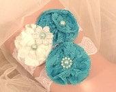 Ivory & Mint Wedding Garter / Garter / Vintage Inspired Lace Garter / Wedding Garter Set