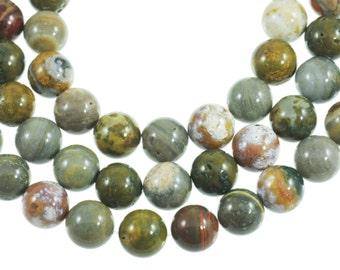 "Ocean Jasper 16mm Round Gemstone Beads - Full 16"" Strand - About 25 Beads"