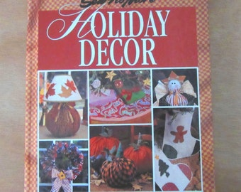 Sew No More Holiday Decor (Hardcover 1995) Holiday decoration, do it yourself instructions,Christmas, Thanksgiving, New Year's, Halloween