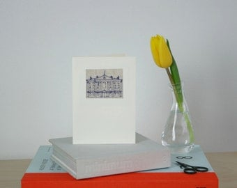Trinity College, Dublin. Embroidered Linen Card