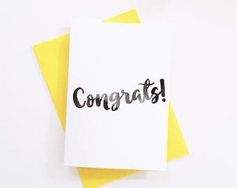 Congrats Card, Congratulations Card, Blank Card