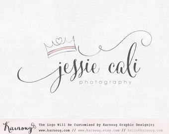 Crown Logo, Princess Logo, Heart Logo, Queen Logo, Photography Logo, Boutique Logo, Custom Logo, Premade Logo, Custom Watermark