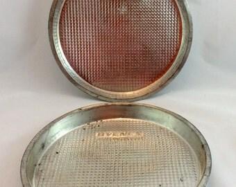 Vintage Ovenex Cake Pans, Textured Round Cake Pans, Textured Cake Pans