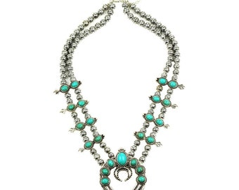 Vintage style Squash blossom necklace