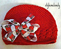 University of Maryland Baby Girl Boutique Bow Crocheted Hat
