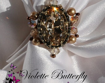 Ring Queen Autumn Swarovski crystal