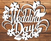 Wedding Papercut Template, Wedding Day, PDF SVG Instant downloads files