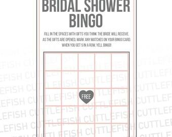 Printable Shower Bingo (Gray & Pink) – Instant Download
