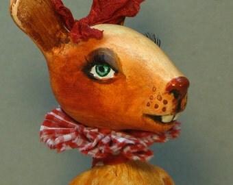 Free shipping , Art doll Souvenir Bunny girl