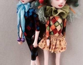 "Art dolls "" Harlequin and Columbine """