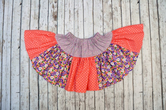 Coral Forget-me-knot Twirl Skirt 2/3