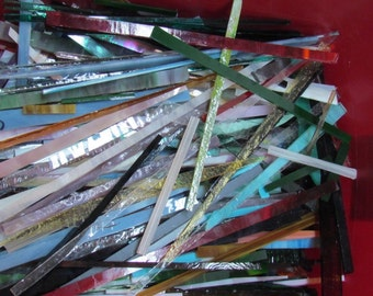 STRIPS of Glass from stained Glass Shop for Mosaic work or art project in glass  3 LBS