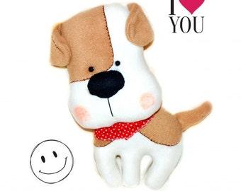 Stuffed dog toy, toddler gift, stuffed animal, plush toy, plush dog, soft toy, plushie, softie, nursery decor, gift for dog lover