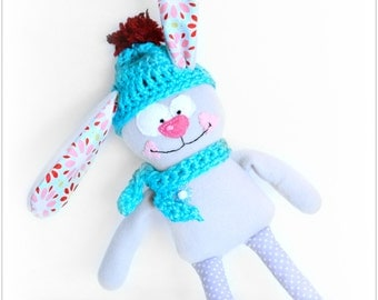 Stuffed bunny, toddler gift, easter gift, stuffed toy, kids gift, stuffed animal, plush bunny, plushie, softie, easter toy, rabbit doll