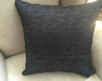 Charcoal Square Cushion/Pillow Cover in Warwick Upholstery Fabric.