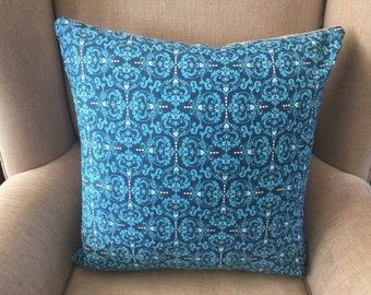 """Large Cushion Cover/Pillow in """"NOVELLA, Heart de Flur by Valori Wells for FreeSpirit with an EST Linen Backing."""
