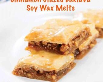 Cinnamon Glazed Baklava Soy wax melt Tarts