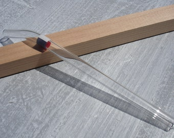 """Glass drinking straw """"France"""", single, 10 x 200 mm, curved"""