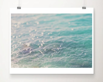 Adriatic ocean photograph abstract photograph teal home decor water photograph minimalist art water ripples photograph