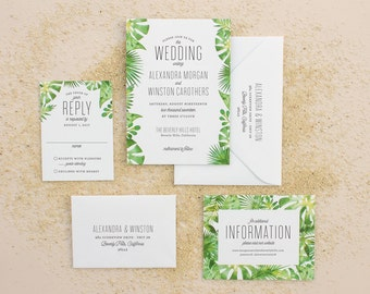 tropical invitations  etsy, Wedding invitations