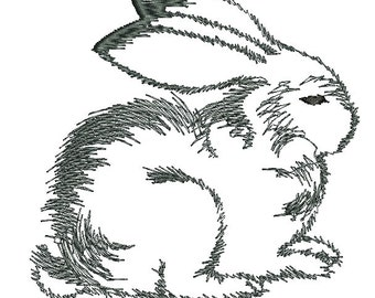 rabbit embroidery, low stitch count - Machine Embroidery designs