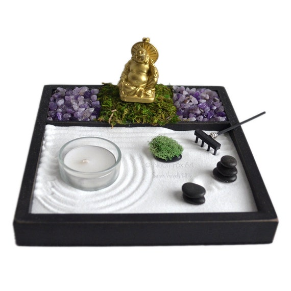 Mini Zen Garden Laughing Buddha Statue Incense By