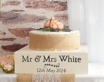 Wooden Wedding Cake Stand