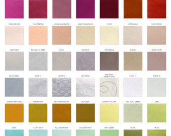 Solid color chart / Fabric sample /  Wedding Ties
