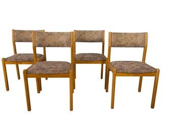 Moller Teak Dining Chairs Mid Century Danish Modern