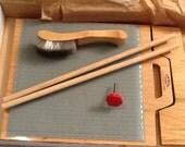 Blending board, fiber board, fiber art