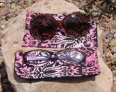 Pink Ombre Floral Eyeglass/Sunglasses Case